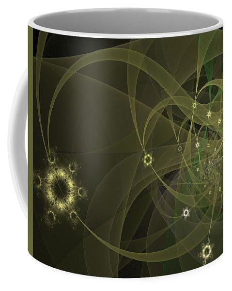 Fractal Coffee Mug featuring the digital art Spring Blossom by Elena Ivanova IvEA  #ElenaIvanovaIvEAFineArtDesign #Decor #Mug #Cup #Gift