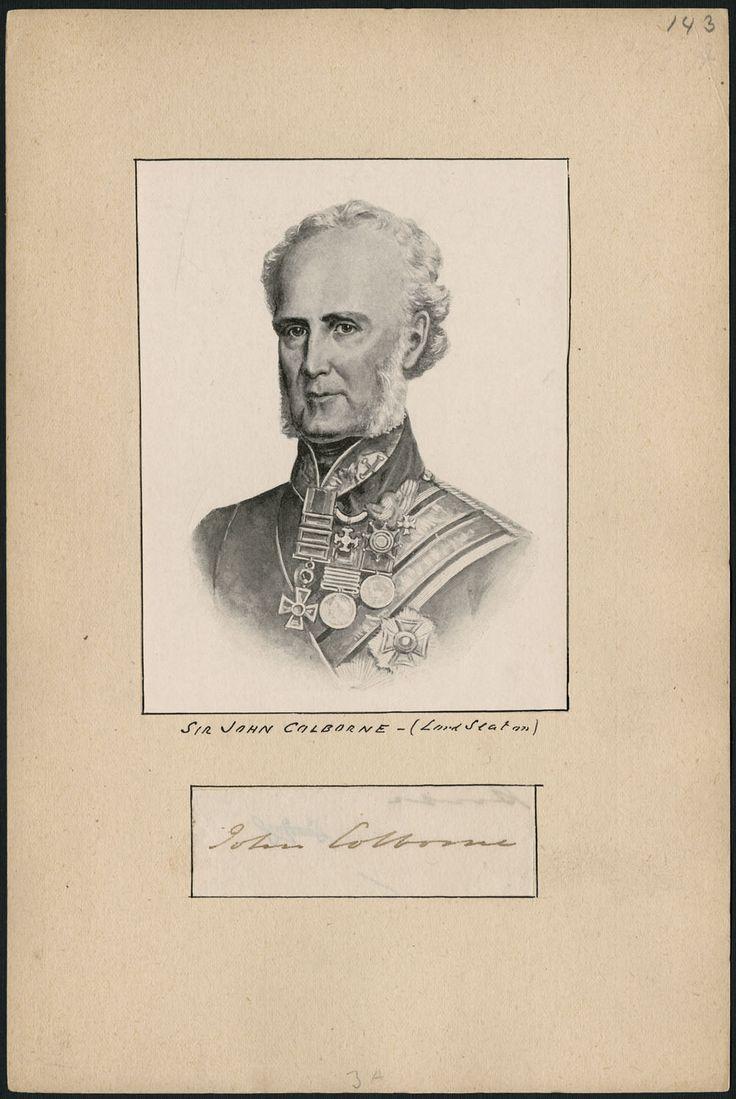 COLBORNE, JOHN, 1er baron SEATON, soldat et administrateur colonial, né le 16février1778 à Lyndhurst, Hampshire, Angleterre, fils unique de Samuel Colborne et de Cordelia Anne Garstin, décédé le 17avril1863, à Torquay, Devonshire, Angleterre.