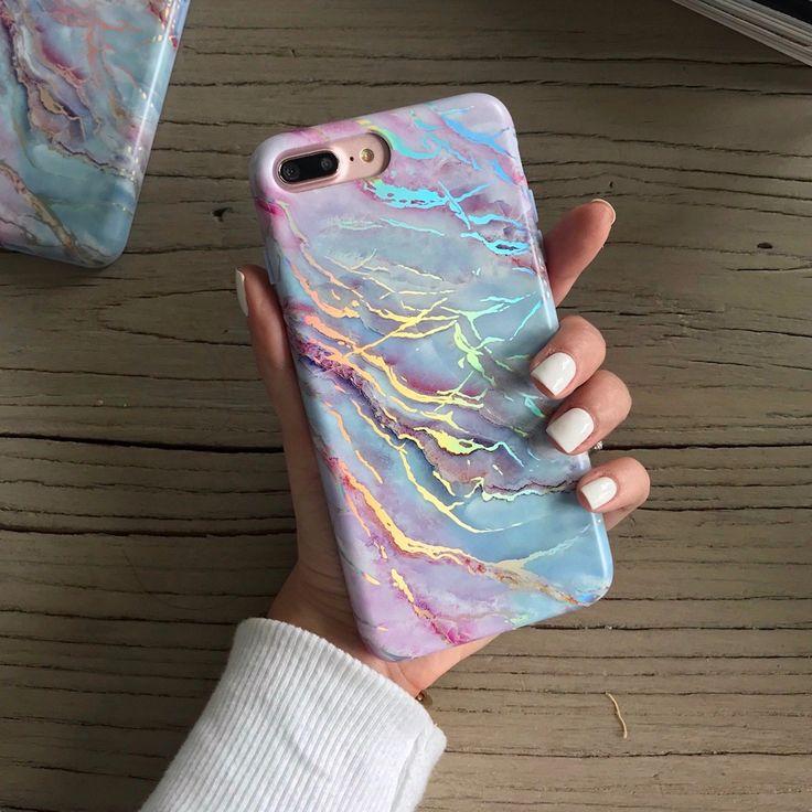Holo Moonstone Marble iPhone Case – VelvetCaviar.com