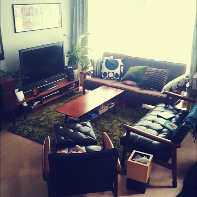 ミッドセンチュリー/カリモク60/ソファ/リビングのインテリア実例 - 2015-03-21 09:17:24 | RoomClip(ルームクリップ)