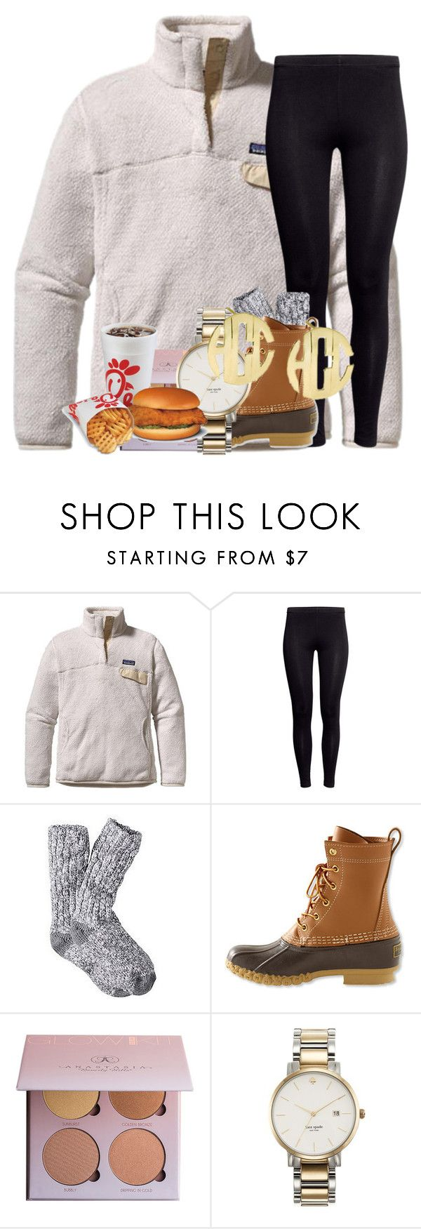 """""""I had chick fil a for valentines day"""" by starbucksmoney ❤ liked on Polyvore featuring Patagonia, H&M, L.L.Bean and Kate Spade"""