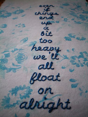 """""""Float On"""" by Modest Mouse. Heard this song on the radio and loved it!"""