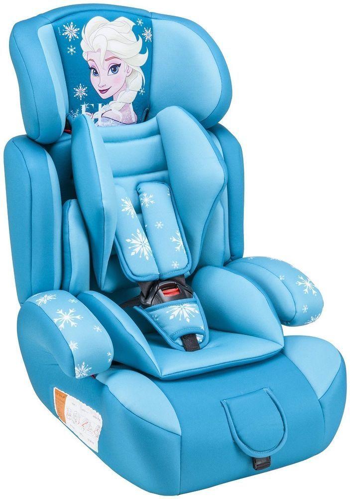 Disney Silla de Coche Grupos 1/2/3 (9-36 kg) Diseño Frozen Elsa Azul Turquesa
