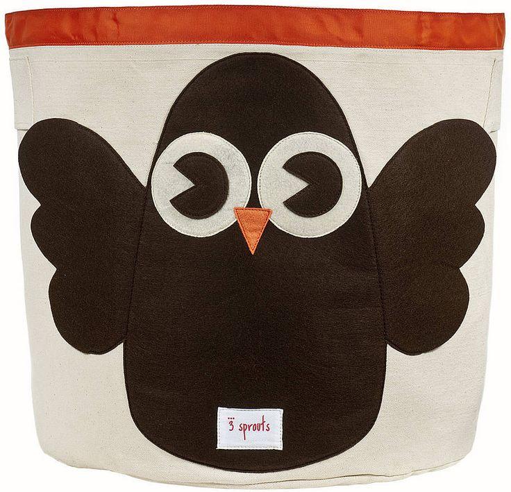 Owl Toy Storage Bin