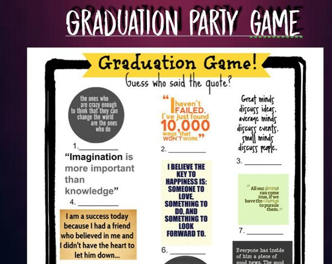 This is a picture of Printable Trunk Party Games with regard to high school graduation