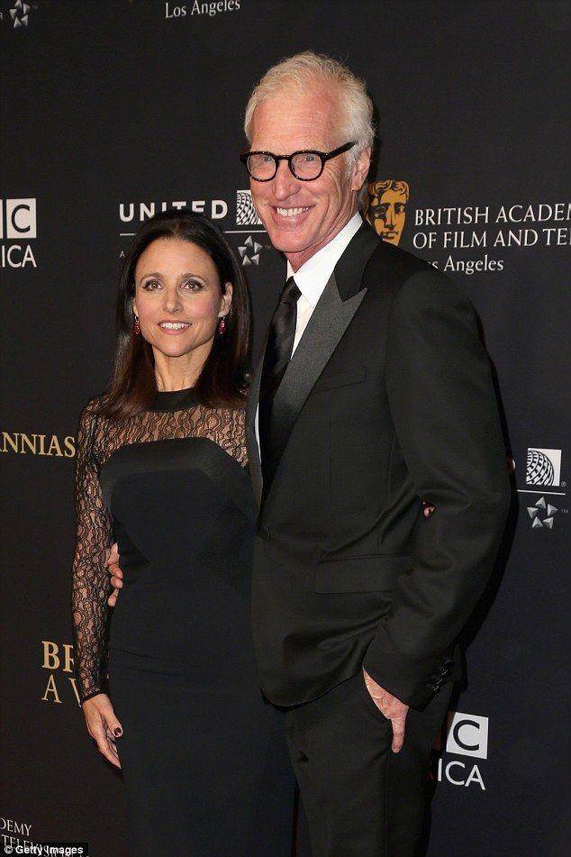 Julia  Louis-Dreyfus and husband Brad Hall