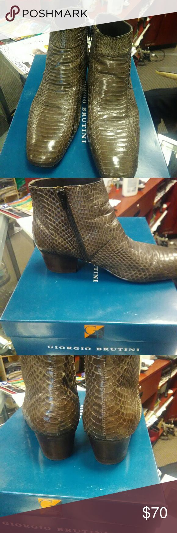 GIORGIO BRUTINI BOOTS GIORGIO BRUTINI Genuine Snake Leather Boots for men GIORGIO BRUTINI Shoes Boots