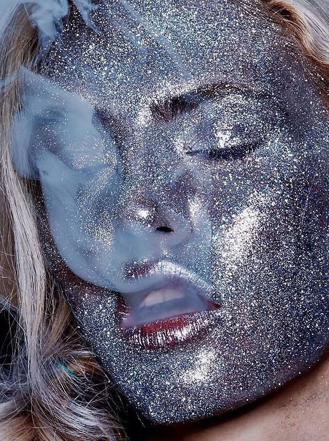 A little heavy on the shimmer eye shadow, just a little.(WHAT THE FUCK!? LP)