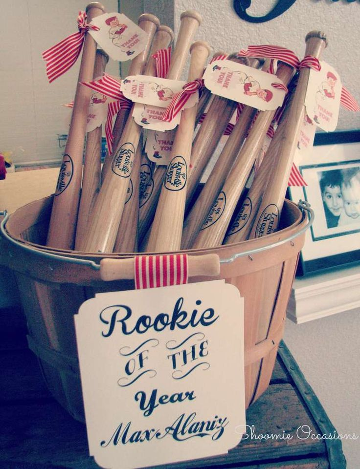 Vintage Baseball Birthday Party Ideas | Photo 27 of 28 | Catch My Party