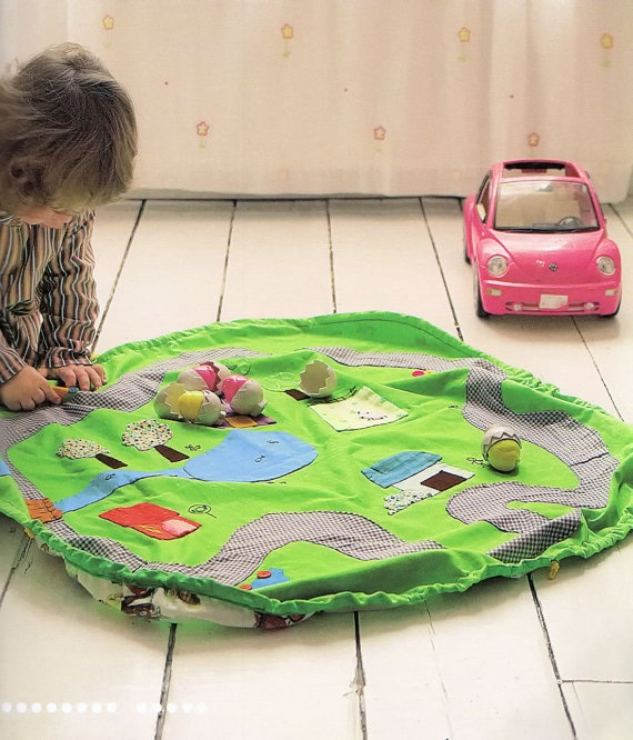carry play mat boy girl baby children gift toy Applique Patchwork Quilt Sewing pdf pattern