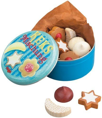 Haba Play Food - Biscuit Box by Haba. $8.54. Biscuit box contains 12 pieces of biscuits in varying shapes and colors.. Save 66% Off!