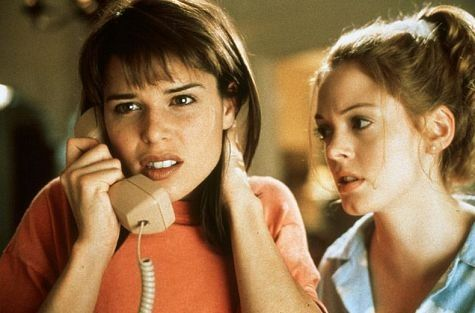 Still of Neve Campbell and Rose McGowan in Scream (1996)
