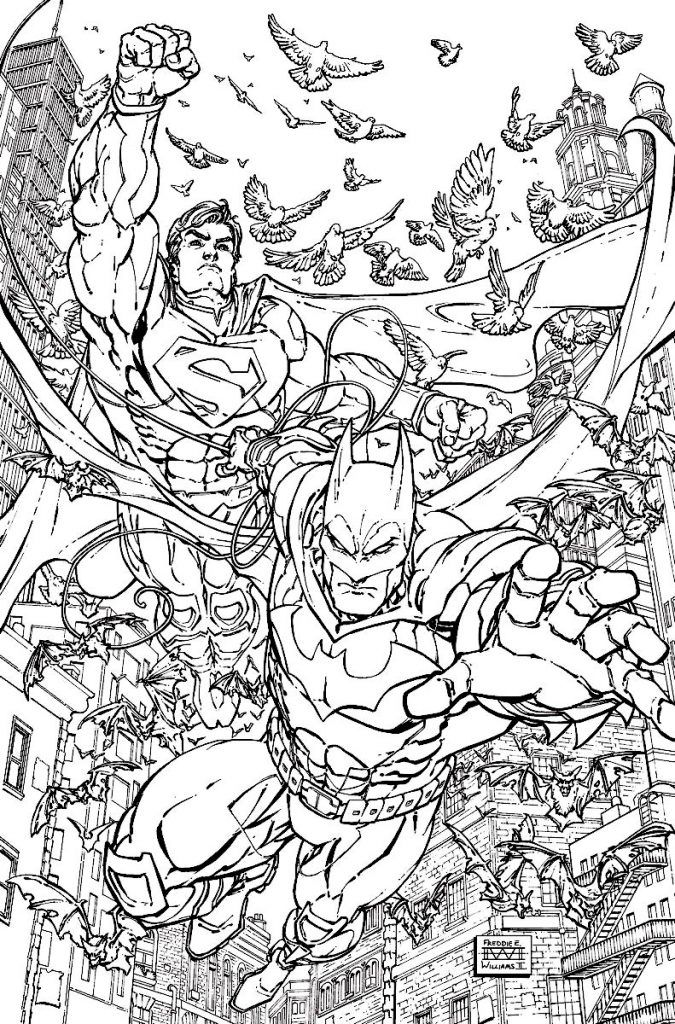 Superman Coloring Pages Superman Coloring Pages Batman Coloring