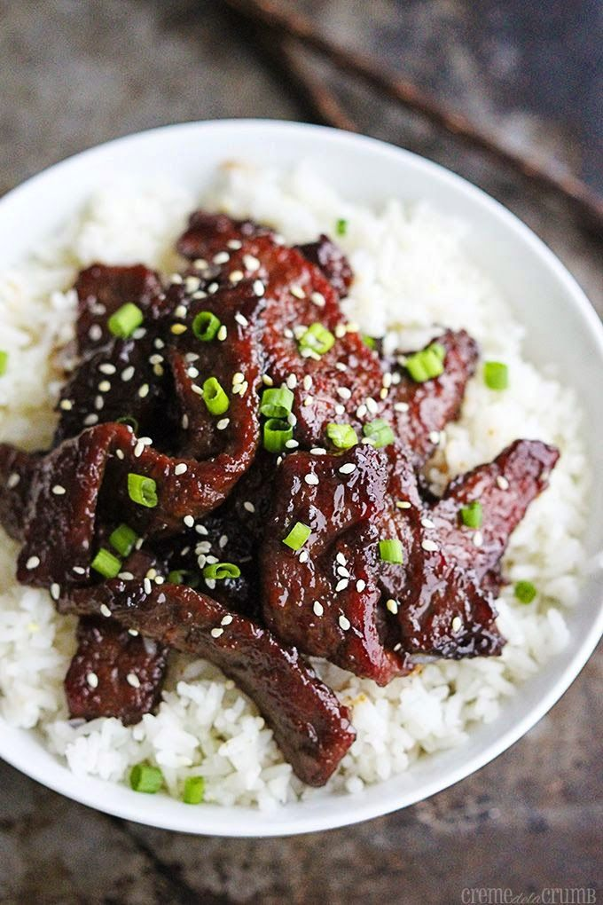 MONGOLIAN BEEF - 1 lb sirloin or flank steak Marinade: 1 egg white Pinch of salt 1 teaspoon sesame oil 1 tablesp...
