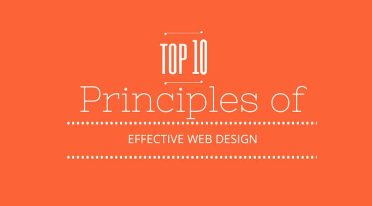 top 10 principles of web design