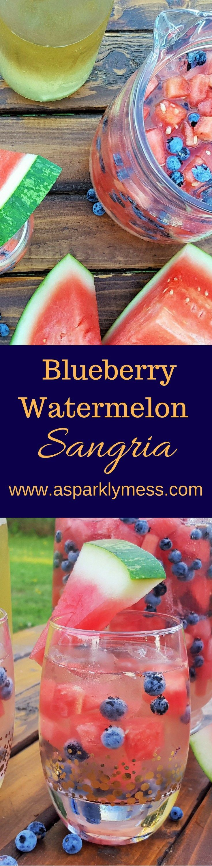 This easy Blueberry Watermelon Sangria combines sweet white wine with refreshing summer essence! Perfect anytime of the year– it's like a vacation in a glass!