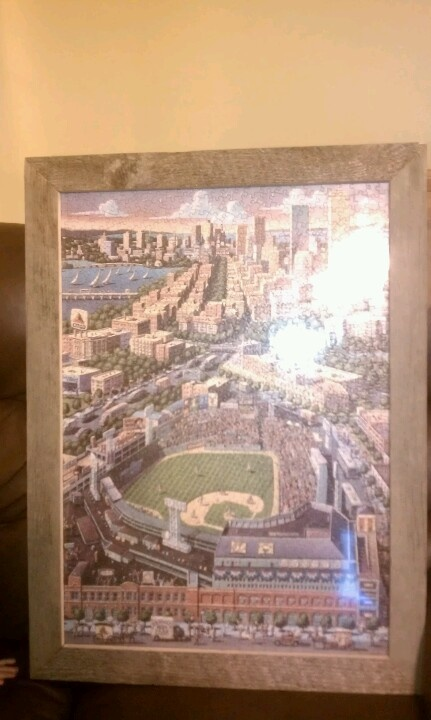 fenway puzzle and homemade frame for the home pinterest more homemade frames ideas. Black Bedroom Furniture Sets. Home Design Ideas
