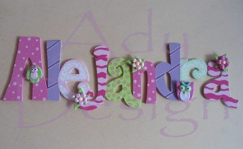 Letras decoradas de fomi imagui madera pinterest - Letras de madera decoradas ...