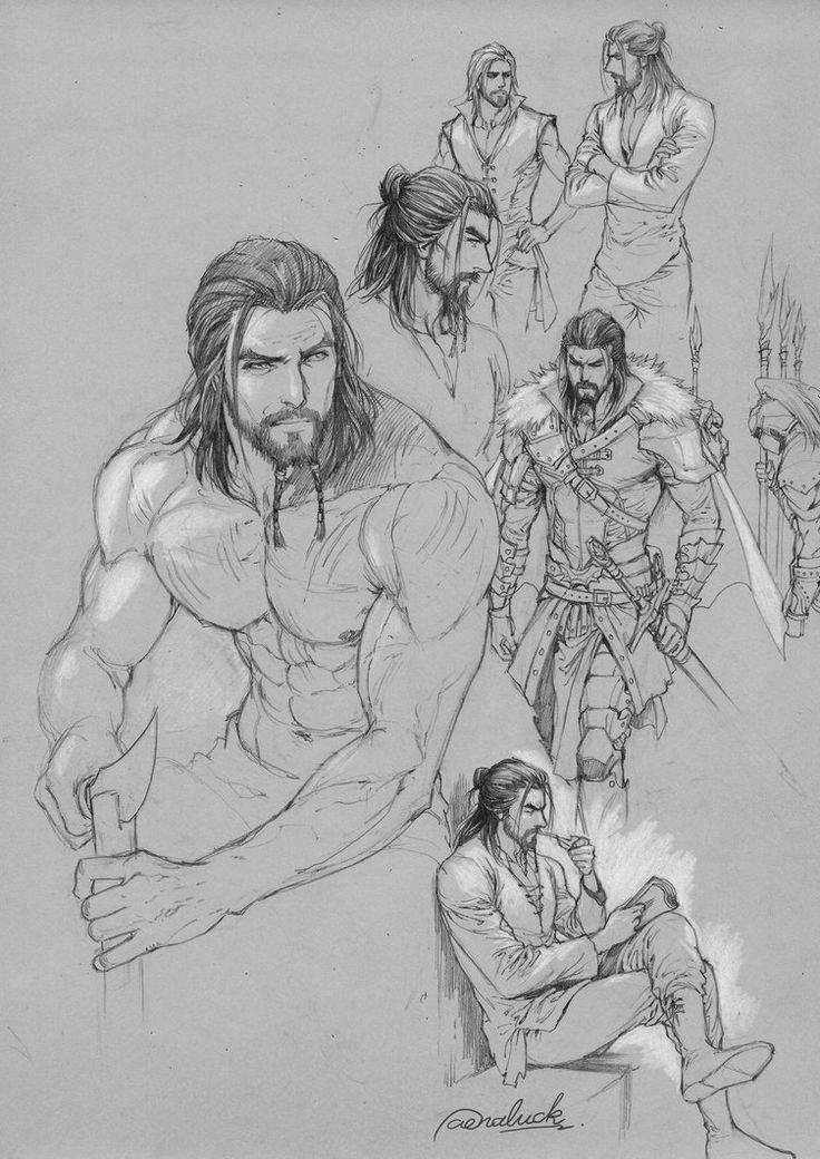 sketch on gray paper by aenaluck.deviantart.com on @DeviantArt