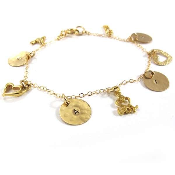Personalized Charm Bracelet - Love - 14k Gold-fill by Sari Glassman