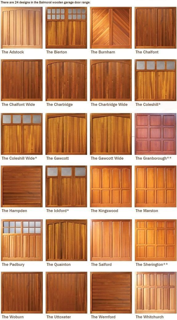 Beautiful Examples of Wooden Garage Doors. Just imagine how lovely they would be on your home!