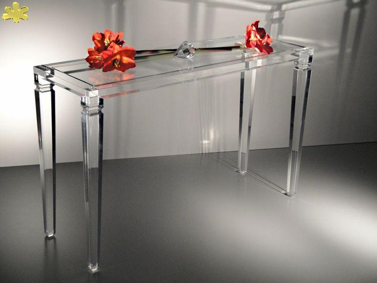 MODELLO LV1 #consolle #trasparente #acrylic #consolle #plexiglass #desk  #home. Acrylic TableHome OfficesConsole ...
