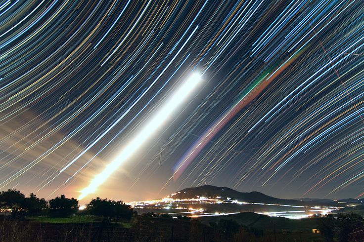 Star trail during the Geminids shower