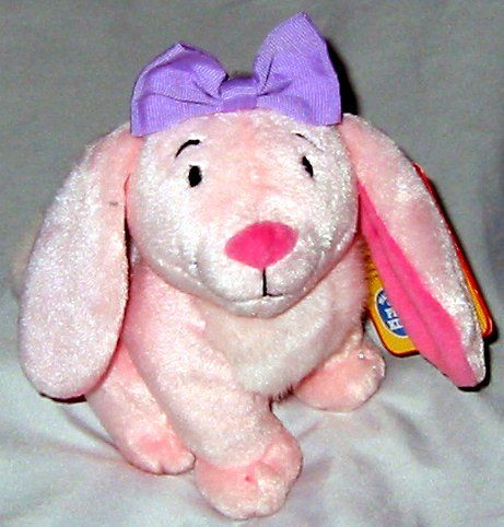 Clifford's Puppy Days Daffodil Rabbit Plush 8 by Scholastic. Soft and cuddly. Cute purple bow.
