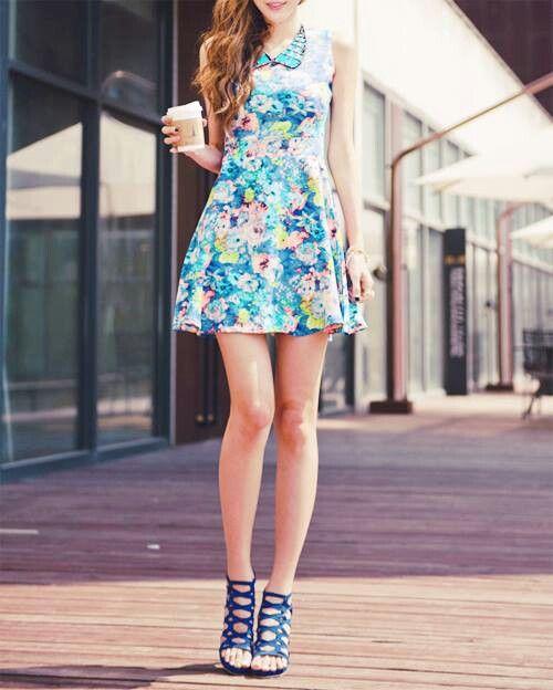 #floral #summer Korean fashion
