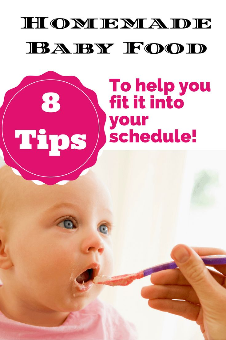 How to fit homemade baby food into your already busy schedule. You can do it!
