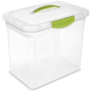 Plastic Storage Box With Locking Lid