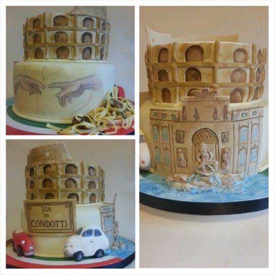 Fornitura Cake Design Roma : Italy Theme Cake :) Italia Themed Cakes