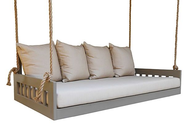 Totally obsessed with this bedswing!c: Bed Swings, One King Lane, Birmingham Bedsw, Outdoor, Beds Swings, Good Book, Porches Swings, Front Porches, Mushrooms