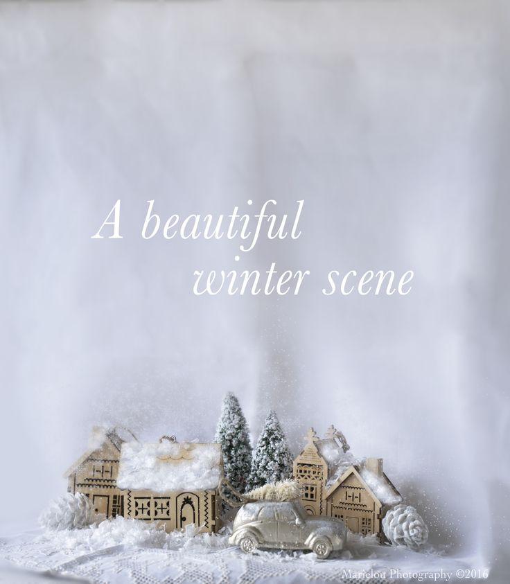 My little village setup. Marielouphotography © 2016 #winterscene #winter #crate&barrel #stilllife #2016