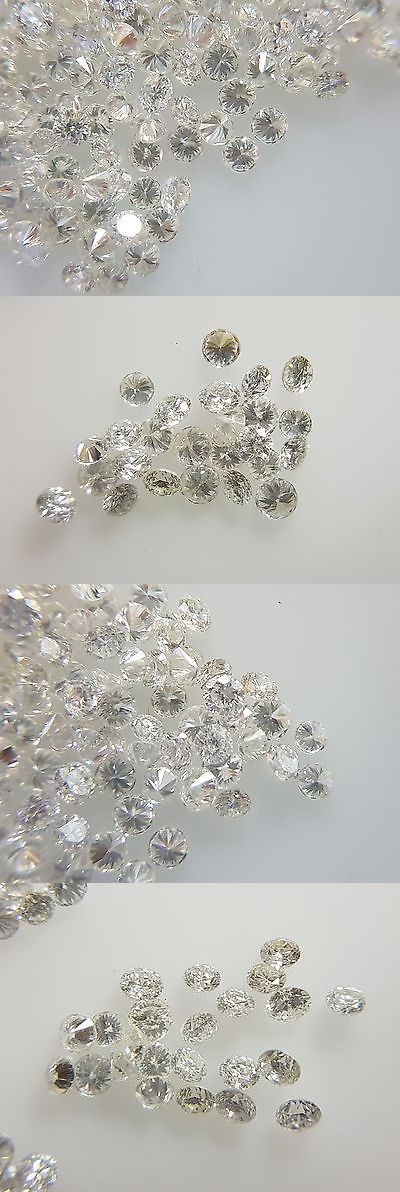 Loose Gemstones 40132: Natural Loose Wholesale Diamond Lot 50Pc 1.4Mm 0.60Cts F Color Vs-Si Clarity -> BUY IT NOW ONLY: $359.99 on eBay!