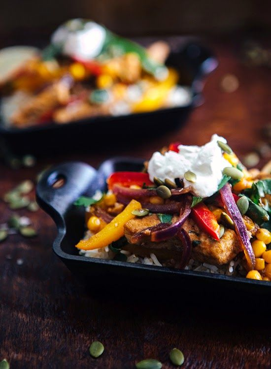 Spiced Mexican Pork and Veggie Stir Fry - easy 30 minute meal