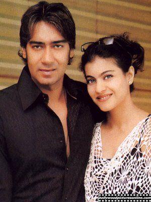 Really nice picture of Kajol and Ajay Devgan!