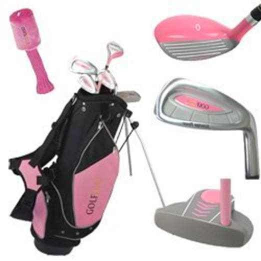 Golf Girl Junior Club Youth Set for Kids Ages 8-12 RH with Pink Stand Bag #GolfGirl