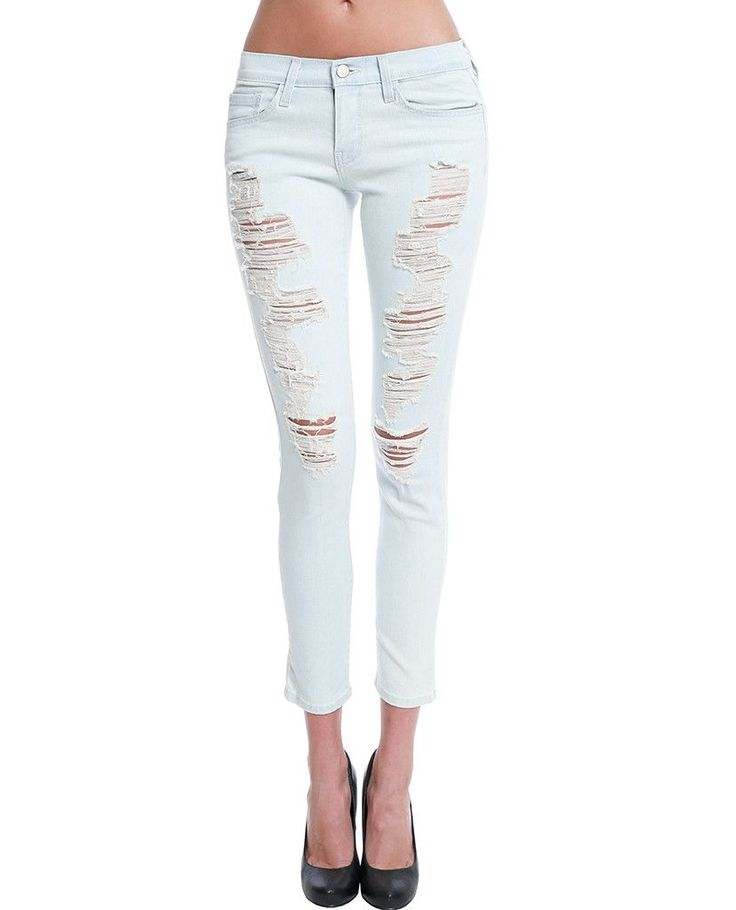 25  best ideas about Cropped skinny jeans on Pinterest | White ...