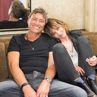 Kate and Steven Bauer of cast Ray Donovan #katemoennig #stevenbauer #rollingstone #raydonovan