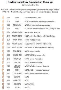 Revlon ColorStay Foundation Shades on MAC