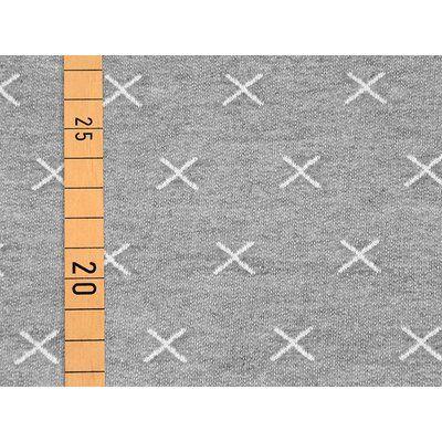 Stenzo Jacquard Jersey - denim style crosses - hellgrau, 12,90 €
