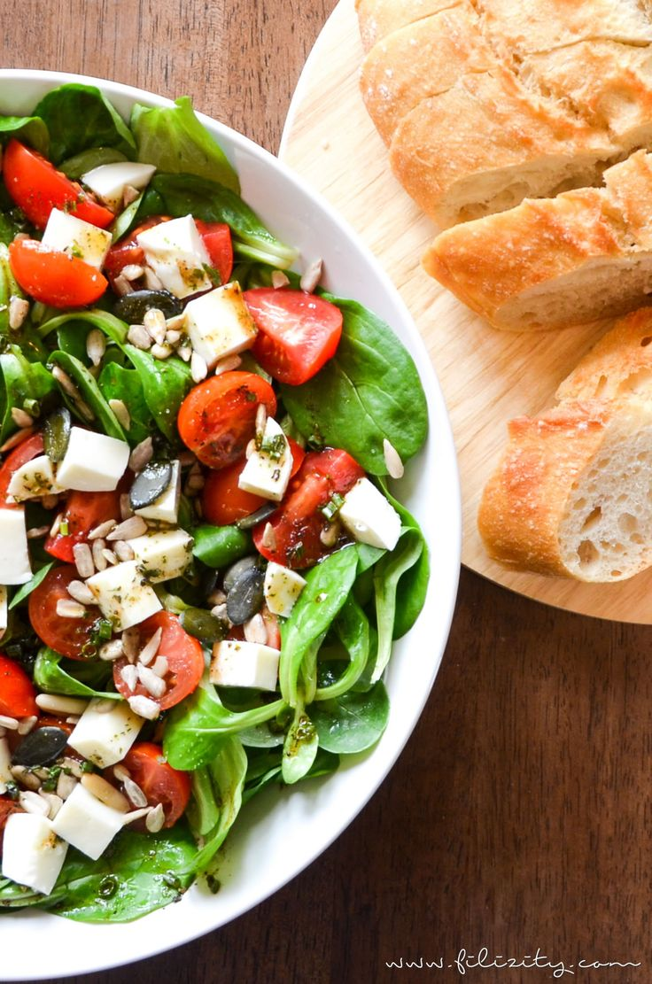Rezept für italienischen Sommersalat. Als Beilage zum Menü, für deine Grillparty oder das Lunch-Buffet