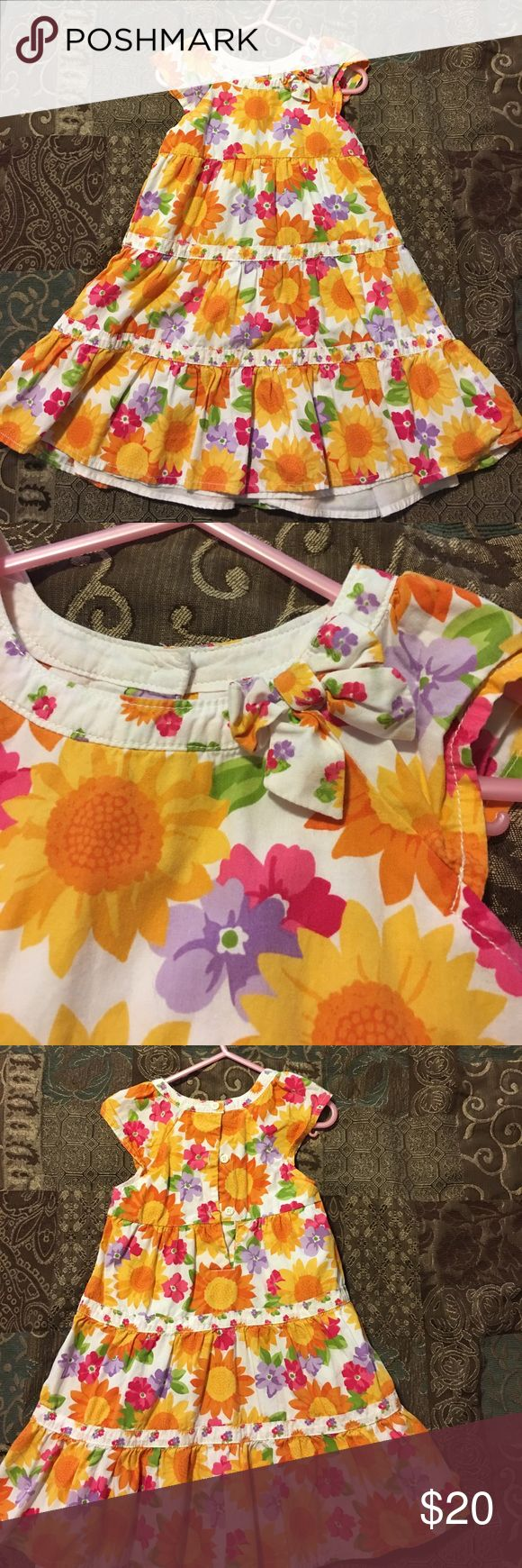 Gymboree sunflower dress 🌻💕 This is a beautiful Gymboree sunflower 🌻 dress 😊. It's absolutely adorable on too 😍💝💖 Size 4T Gymboree Dresses Casual