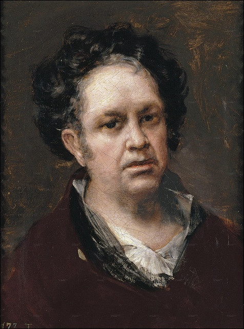 Happy Birthday Fancisco de Goya! Born March 30, 1746 | francisco de goya - Self Portrait