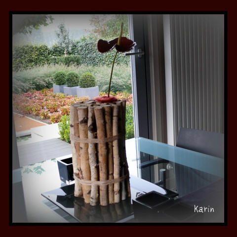 Bloemstuk maken met takken van berk - goedkoop bloemstuk maken met berkentakken als vaasje