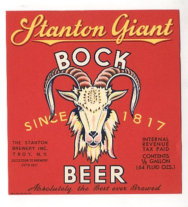 vintage, beer, label