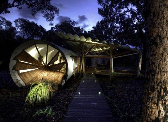 Maison de vacances dans le queensland australie conçue comme une sorte de camping de luxe