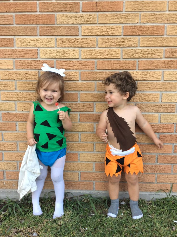 Pebbles and bam bam Halloween costumes
