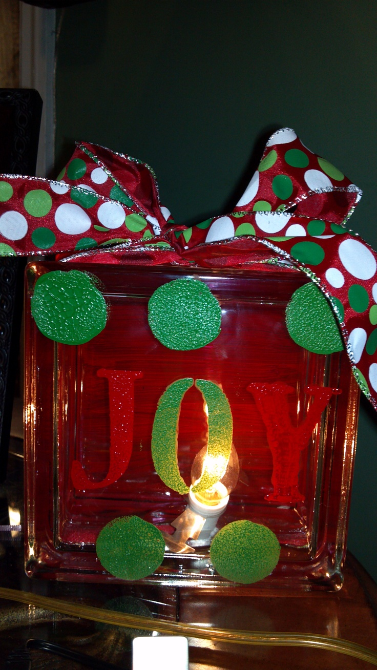 Glass block crafts projects - Glass Block Christmas Decoration